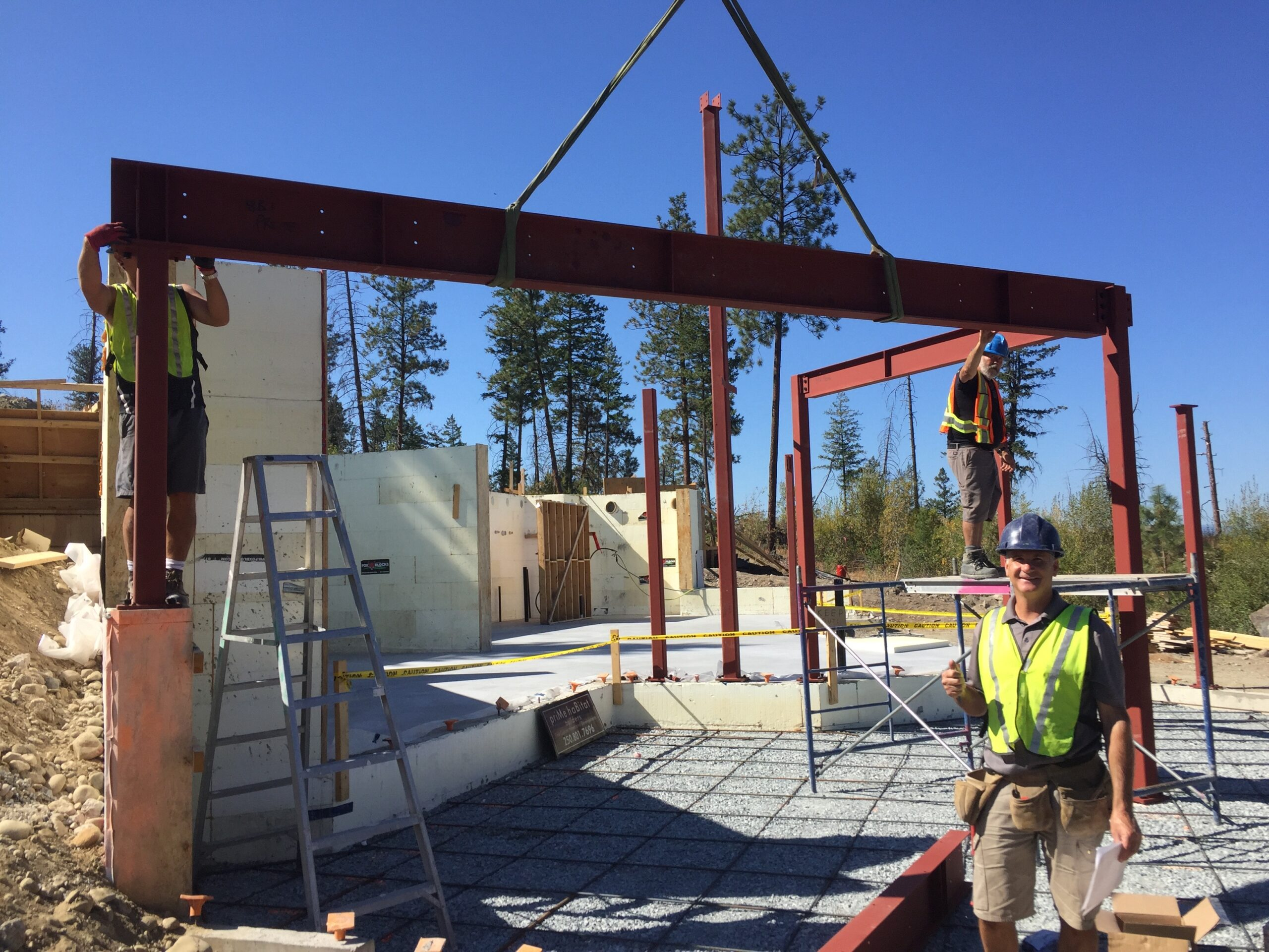 #NetZero Build Crew: Steel Framing Clifftop Home.  #Kelowna