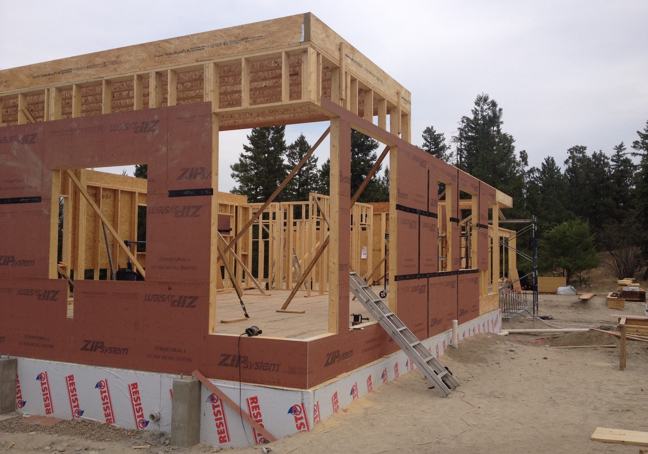 Aug 26th.  Walls are up, and roof going on!
